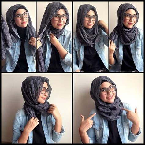 cara pake hijab how to wear hijab for oval face jpg 550 215 550 project h