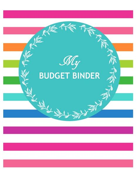 printable binder cover sheets budget printables