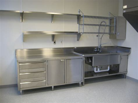 Metal Cabinets Kitchen by Stainless Shelves Industrial Kitchen