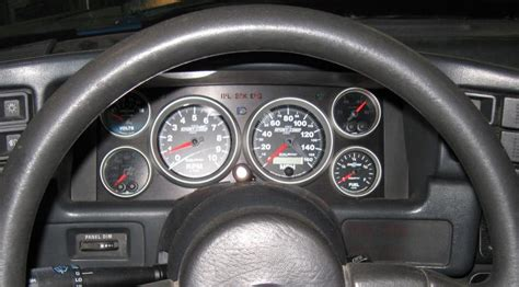 auto manual repair 1987 ford laser instrument cluster post pics of your gauge set ups ford mustang forums corral net mustang forum