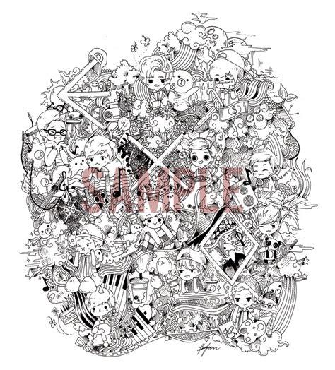 exo doodle wallpaper exo ot12 doodle by misunderstoodpotato on deviantart