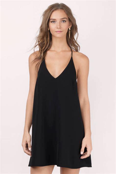 lbd sleeveless swing dress black shift dress black
