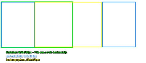 html scrolling div html align divs horizontally within a scrolling div