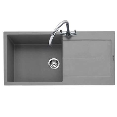 grey kitchen sink caple canis 100 pebble grey granite sink kitchen sinks taps