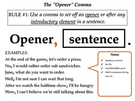 comma notes 1