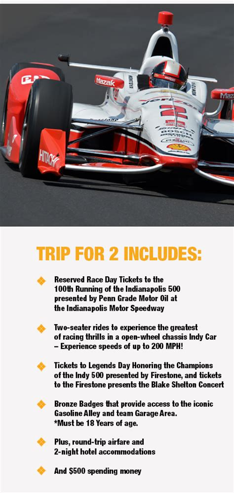 Road And Track Sweepstakes - indy 500 sweepstakes