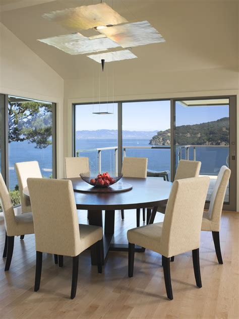 modern round dining room sets how much room is needed for a 60 quot round table with 6