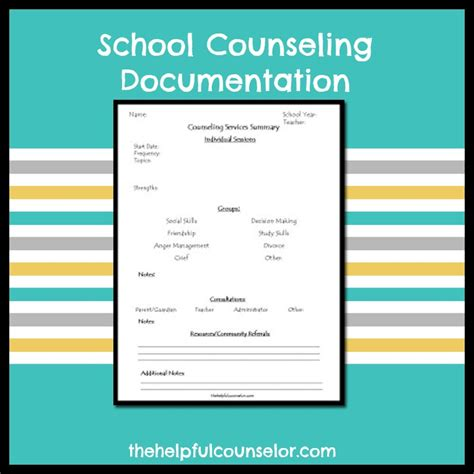 school counseling documentation form the helpful counselor