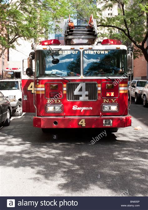truck york ny department fdny engine company 4 truck parked