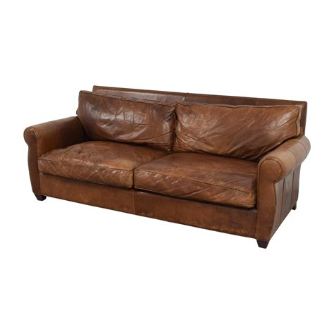 arhaus leather sofa 68 off arhaus arhaus rust leather two cushion sofa sofas