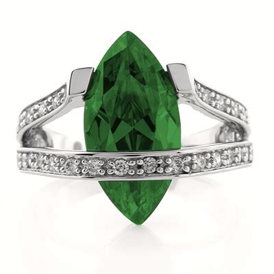 marquise cut emerald sterling silver ring silverbestbuy