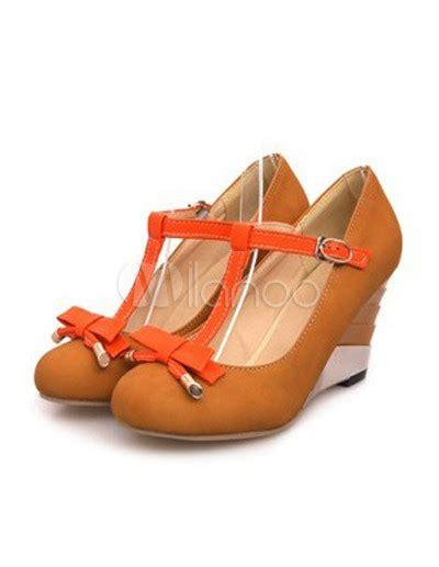 A C C E P T Spike Sandal Black charming bow t s wedge shoes milanoo