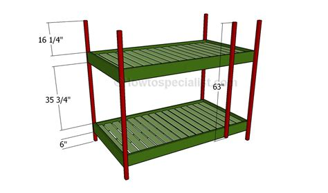 Build Loft Bed Frame Bunk Bed Plans Howtospecialist How To Build Step By Step Diy Plans