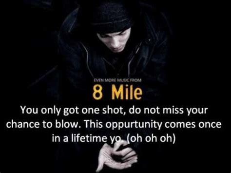 eminem one shot lyrics eminem lose yourself lyrics youtube