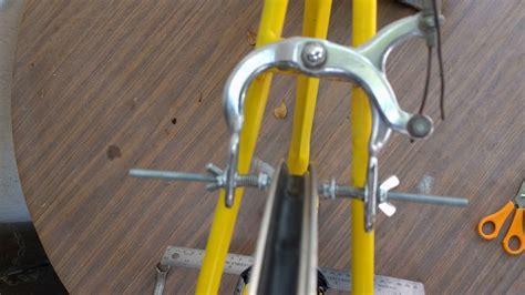 diy wheel truing diy truing wheel stand with bike frame