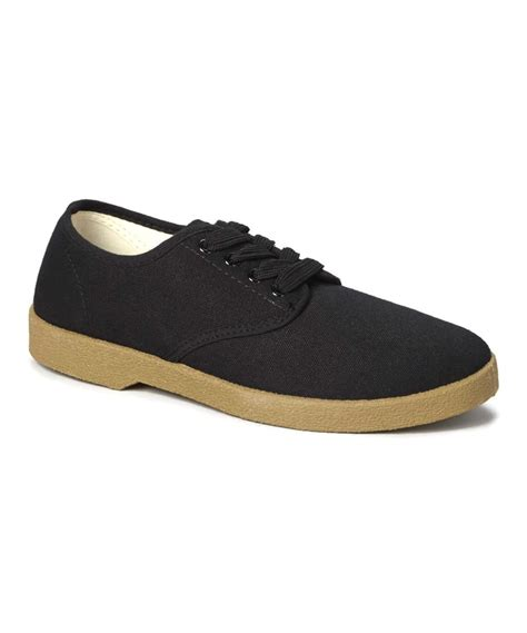 canvas oxford shoes zig zag canvas oxford shoes black winos sizes 6 5 13 new