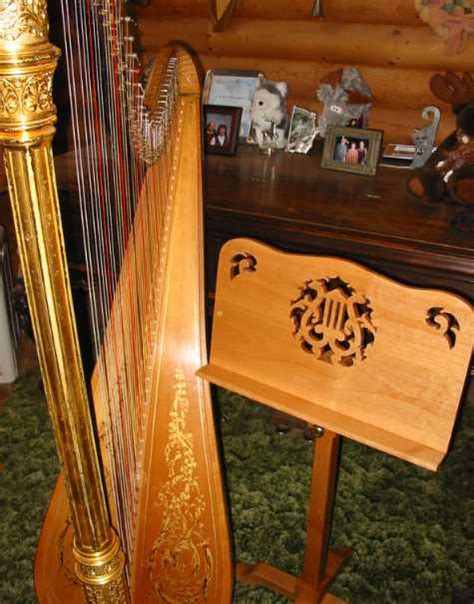 harp bench wood harp bench harp bench and music stand wooden harp