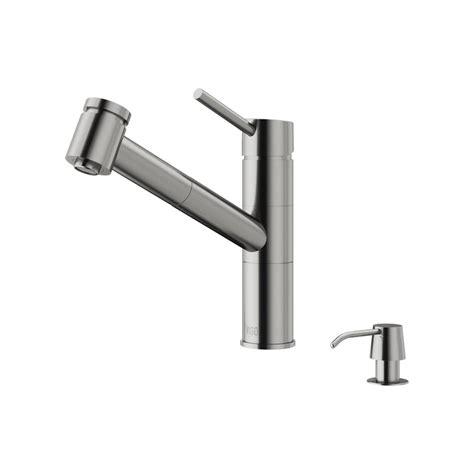 Vigo Kitchen Faucets Vigo Branson Pull Out Sprayer Kitchen Faucet Stainless Steel