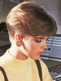 nape of neck haircuts short 1980s ladies haircut with a clippered nape