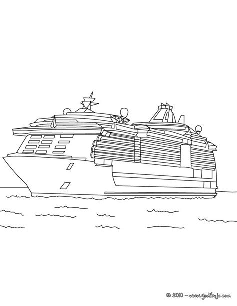 barco crucero dibujo dibujos para colorear crucero es hellokids
