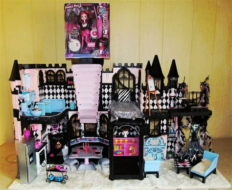 monster high dolls house for sale monster high lot custom ooak doll house classy castle furniture food
