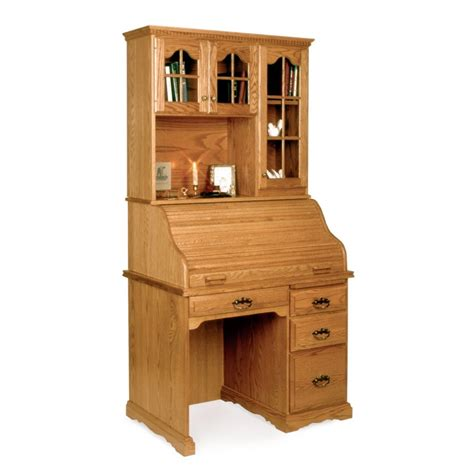 small 40 quot roll top desk hutch amish small 40 quot roll top