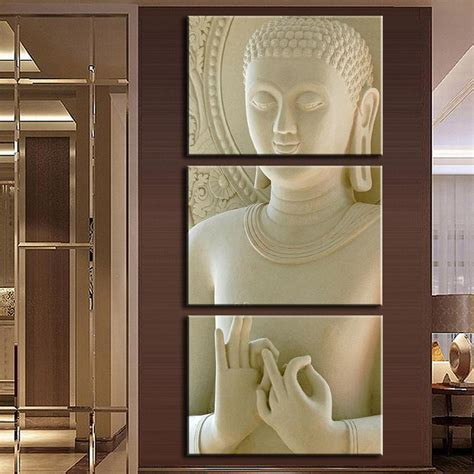home sculptures 2016 modern buddha painting 3 picture home decoration