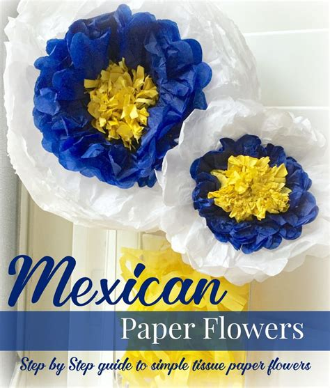 mexican paper flower tutorial diy mexican paper flowers tutorial super easy love the