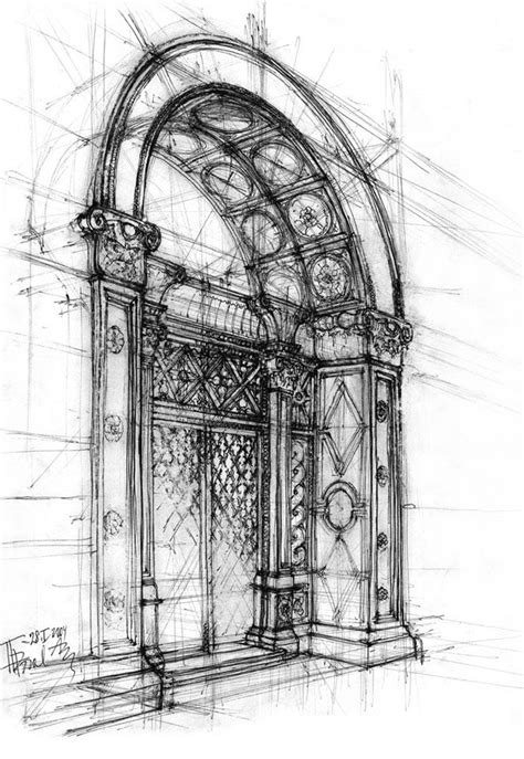 B Arch Sketches by Architectural Sketch By Gabahadatta On Deviantart