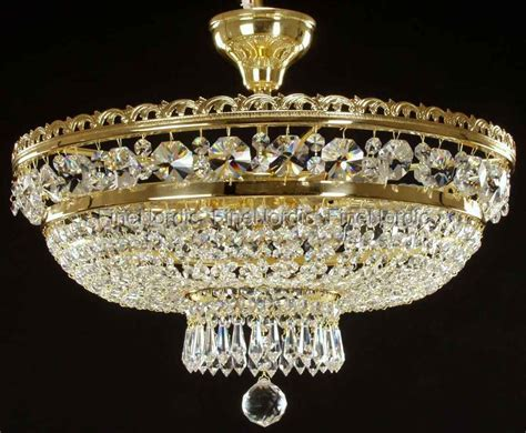 Crystal Chandelier Ceiling Mount With 6 Lights Gold Ceiling Mount Chandeliers