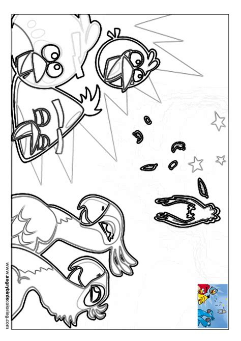 rio birds coloring pages angry birds rio coloring page