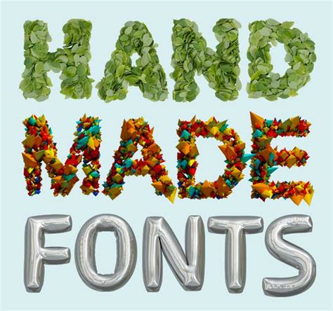 Handmade Typeface - bundle of gorgeous handmade image fonts only 39