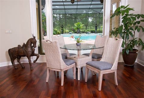 Driftwood Finish Dining Table Belize Dining Table Base Rustic Driftwood Finish Wicker One Imports Your Casual Furniture