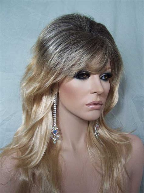 root drag hair styles gemma wig long layered drag blonde with dark roots drag