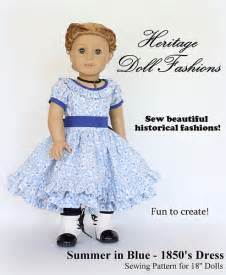 Heritage Doll Fashions 1850 S Dress Pattern For American Girl 174 Dolls Liberty Jane Doll American Doll Clothes Templates
