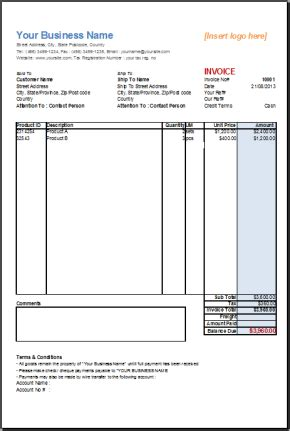 Joomla Basic Template by Basic Sales Invoice Template Templates