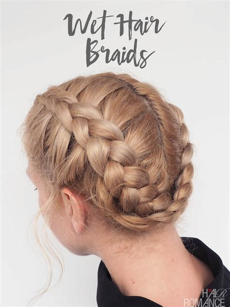 the best way to braid your hair for some straight weave sew in the best braids for wet hair dutch braid video tutorial