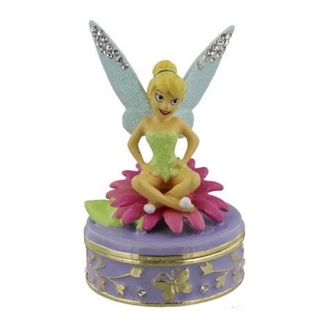 disney gifts disney collectable trinket boxes tinkerbell pan