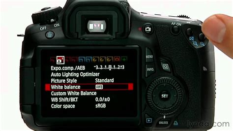 tutorial video canon canon 60d tutorial using the white balance settings