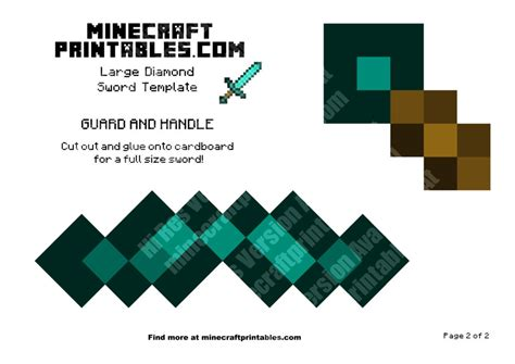 diamond sword printable minecraft diamond sword