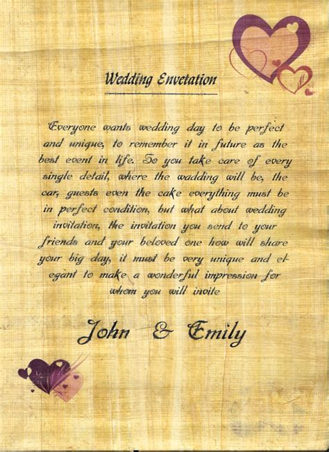 Wedding Invitations Papyrus by Make Papyrus Paper Real Papyrus