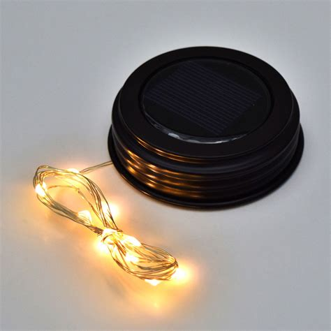 solar light strands lights led jar lid solar powered