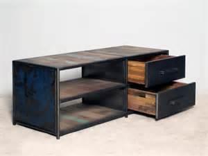 meuble tv 120 cm style industriel