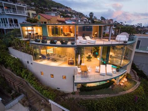 Colorful Beach Houses Floating Glass House In Laguna Beach Hits Market At 14