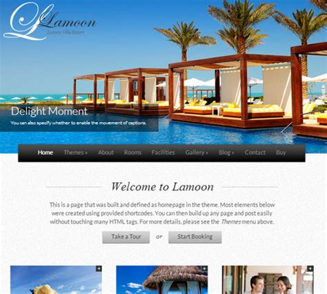 room design website free 22 premium hotel and resort html wordpress templates