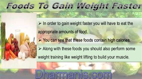 food to help gain weight what type of foods help you to gain weight faster