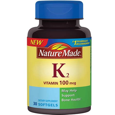 s k supplements nature made vitamin k2 100 mcg softgels 30 ct