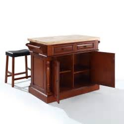 Butcher Block For Kitchen Island by Butcher Block Top Kitchen Island With Stools By Crosley