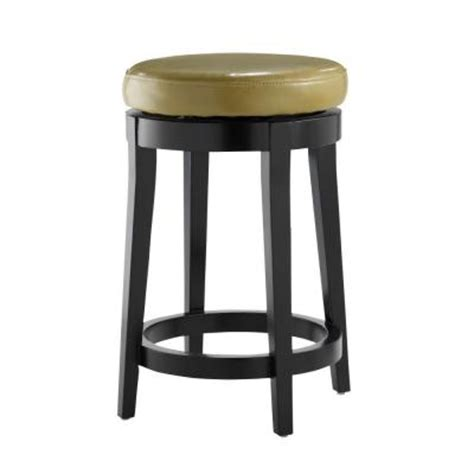 tufted leather bar stool home decorators collection non tufted leather 24 in h