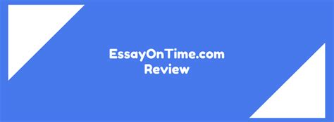 Essayontime Review by Essayontime Review Scored 6 1 10 Studydemic